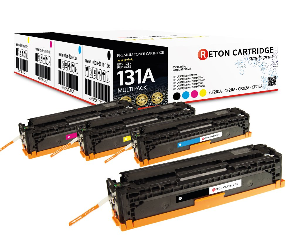 Original-Reton-Toner-kompatibel-4er-Farbset-fr-HP-M251-CF210A-CF211A-CF212A-CF213A-HP-131A-Color-Laserjet-PRO-200-M251NW-M276NW-Printer-M251NW-M276NW