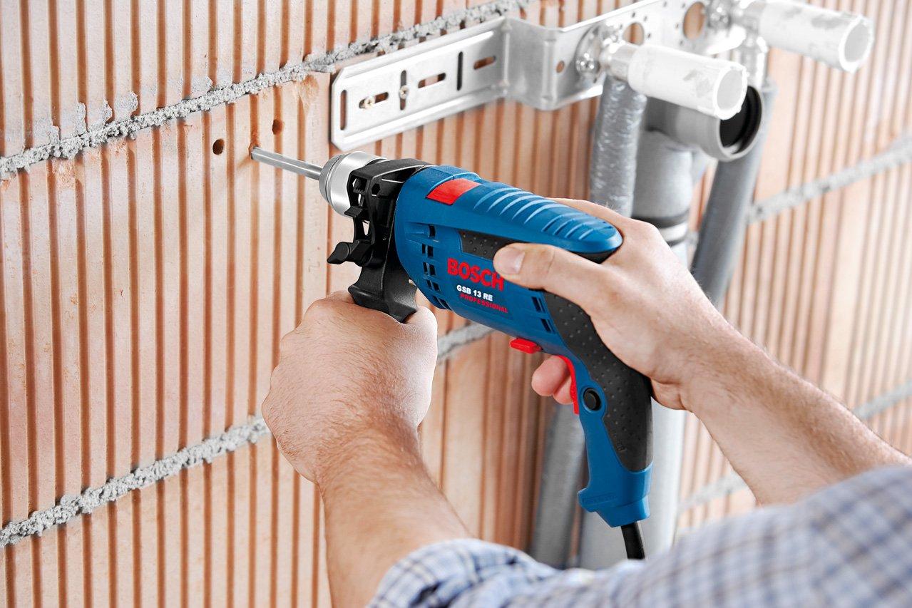 Bosch-Professional-Schlag-Bohrmaschine-GSB-13-RE-600-Watt-Zubehr-Set-im-Karton