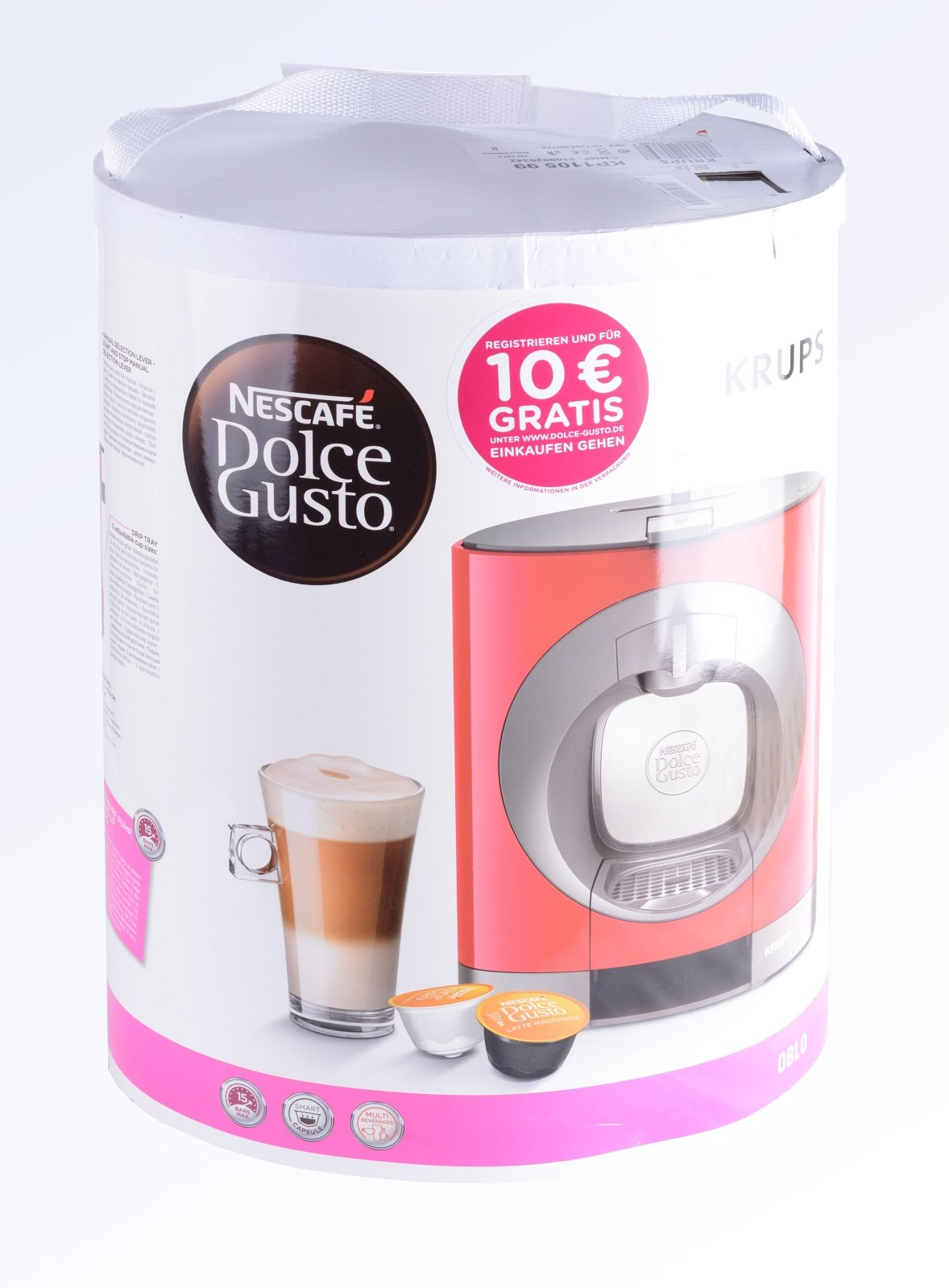 Krups-KP-1101-Nescaf-Dolce-Gusto-Oblo-Kaffeekapselmaschine-manuell