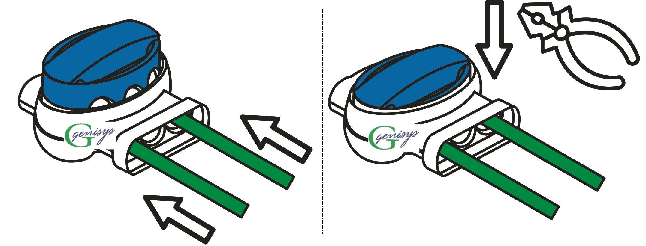 genisys-6-Kabel-Verbinder-4-Anschlussklemmen-fr-Gardena-Mhroboter-Original-von-3M