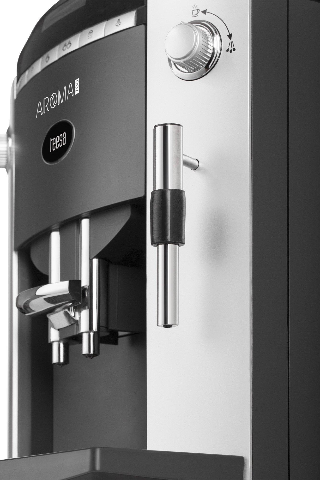Teesa-AROMA-700-Kaffeevollautomat-mit-Mahlwerk-TSA4001-19-Liter-silberschwarz