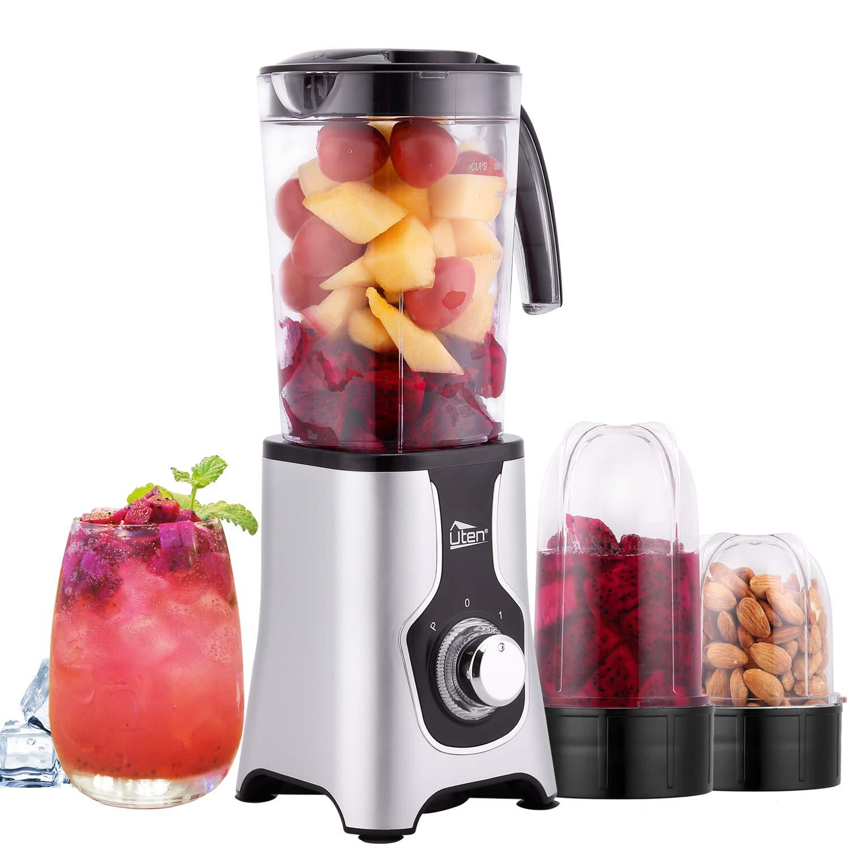 Uten-Standmixer-Mixer-Smoothie-Maker-Multifunktion-Standmixer-Entsafte-Fleisch-Zerkleinerer-Ice-Crusher-Elektrisch-edelstahl-Smoothie-Mixer-mit-Flasche-220W22000UMin