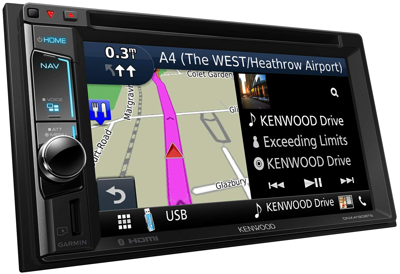 Kenwood-DNX4180BTS-Navitainer-mit-157-cm-WVGA-Monitor-Bluetooth-Apple-Car-Play-Spotify-Control-und-Weblink-Schwarz