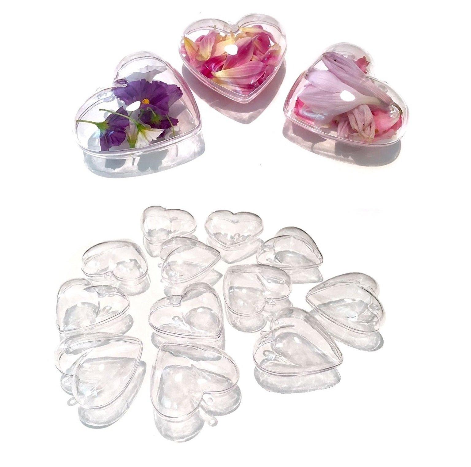 CRYSTAL-KING-10-Stck-Acryl-Kugeln-Herzen-10-cm-gro-Bastel-Kugeln-Acrylkugel-transparent-teilbar-durchsichtig-Kunstoff-Kugel-Acryl-Herz-Acrylic-Ball-Acrylkugeln-100mm