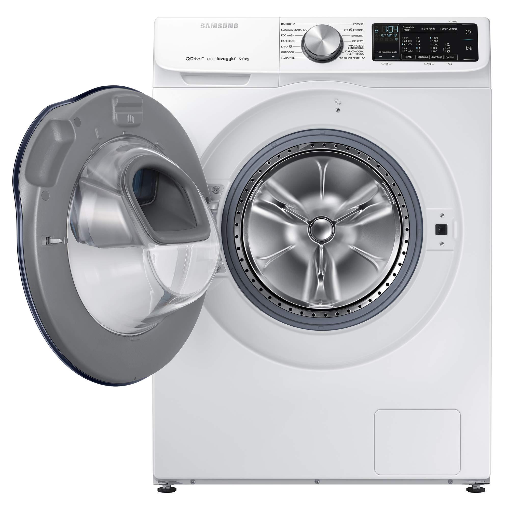 Samsung-ww90-m642opw-autonome-Belastung-Bevor-9-kg-1400trmin-A-40-schwarz-wei-Waschmaschine–Waschmaschinen-autonome-bevor-Belastung-schwarz-wei-drehbar-Oberflche-links-LED