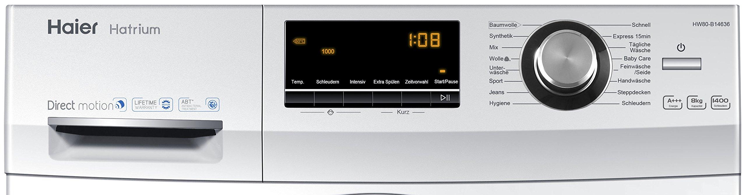 Haier-HW80-B14636-Waschmaschine-FL-A-97-kWhJahr-1400-UpM-8-kg-Vollwasserschutz-Aqua-Protect-Schlauch-und-Bodenwanne-wei