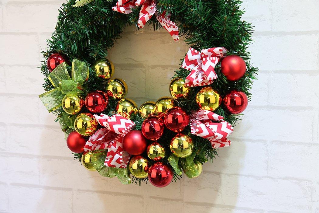 Weihnachtskranz-Funpa-Tr-Kranz-Kreative-Glitzernde-Ball-Girlande-Ornamente-fr-Weihnachten