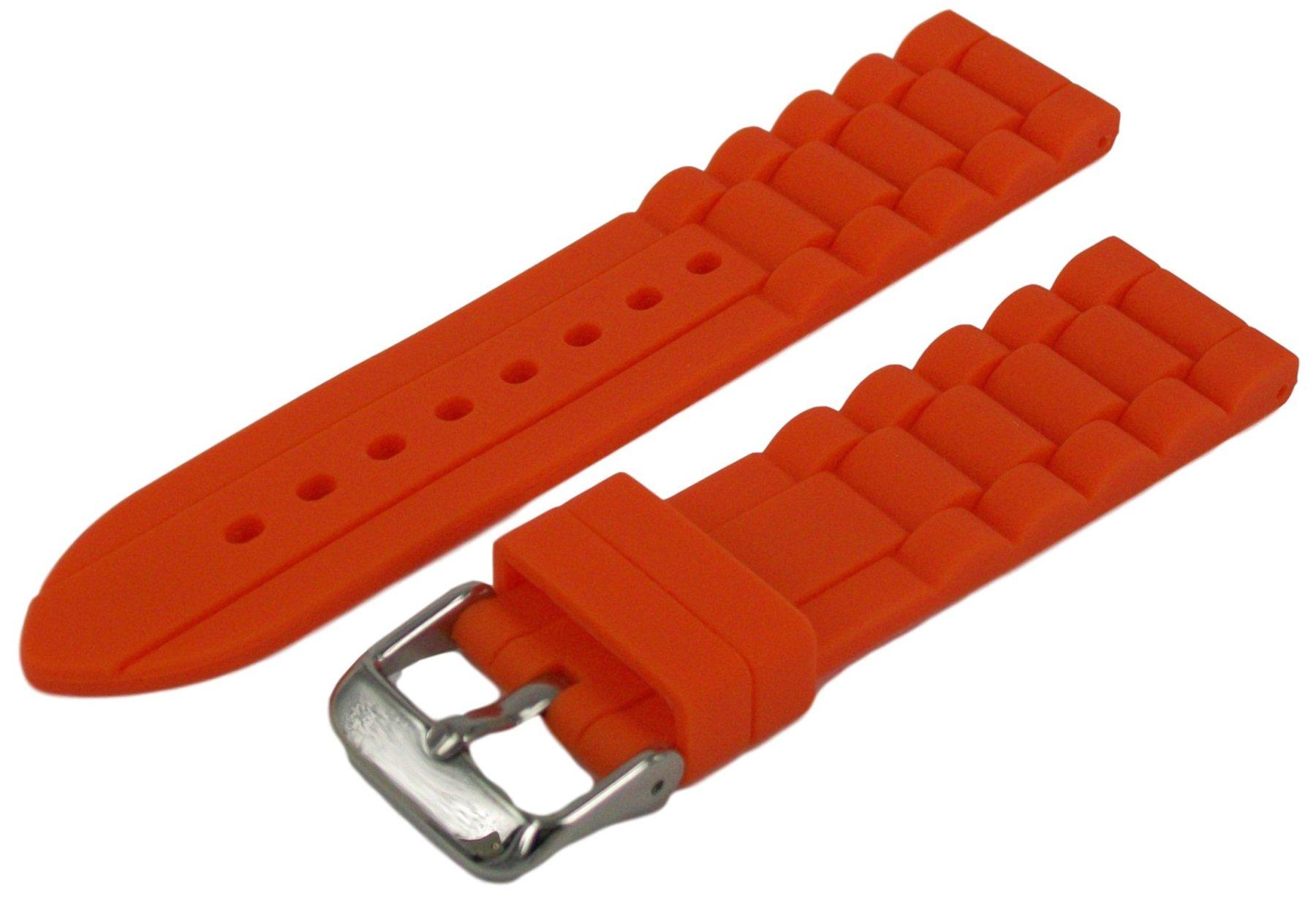 Herren-Silikon-Uhrenarmband-Orange-2468