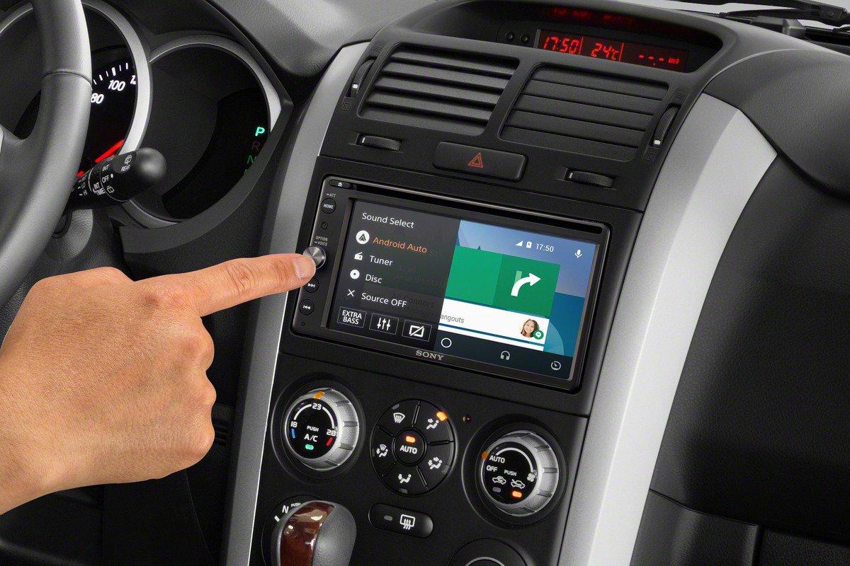 Sony-XAV-AX100-163-cm-64-Zoll-Media-Receiver-mit-Bluetooth-Apple-CarPlay-und-Android-Auto-Navigation-Spotify-2-Din-Autoradio