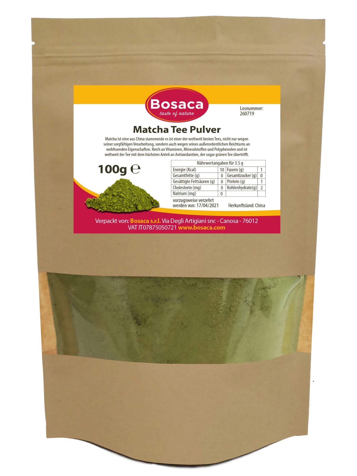 Matcha-Tee-Pulver-Japanischer-Matcha-ideal-zum-Trinken-Grntee-Pulver-fr-Latte-Smoothies-im-Zippbeutel-100-Natrlich-Premium-Qualitt-100-g-Zufrieden-oder-Rckerstattung