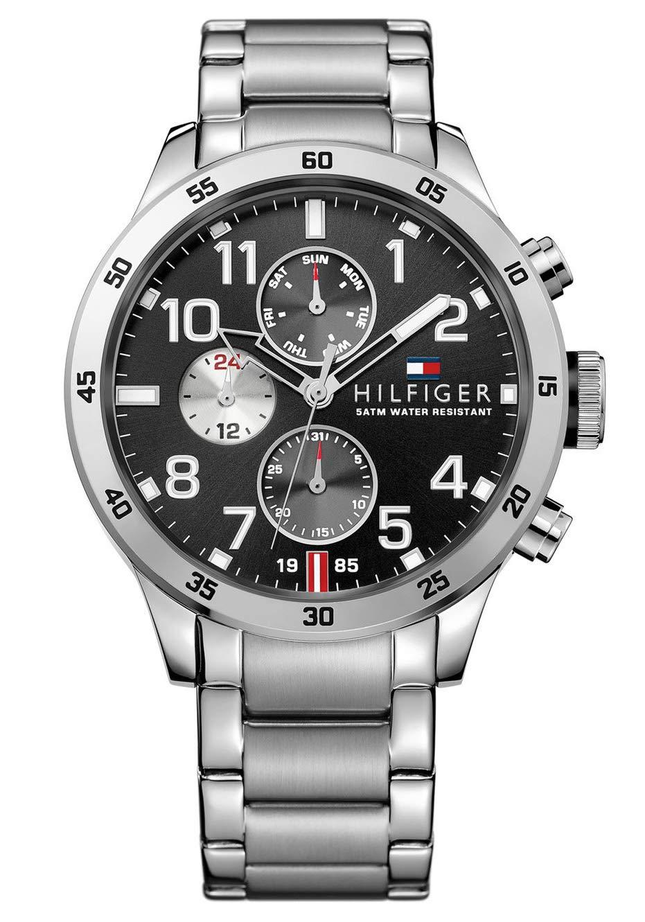 Tommy-Hilfiger-Herren-Analog-Quarz-Uhr-mit-Edelstahl-Armband-1791141