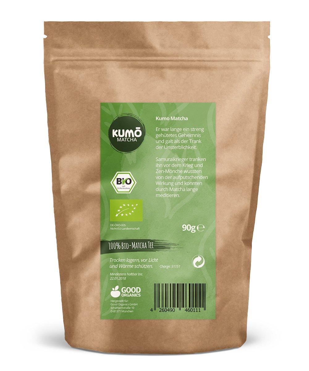 Bio-Matcha-Tee-90g-fr-Matcha-Tee-Matcha-Latte-Cooking-Smoothies-90g-hochwertigstes-Bio-Matchapulver-100-Bio-aus-nachhaltigem-Anbau-Abgefllt-und-kontrolliert-in-Deutschland