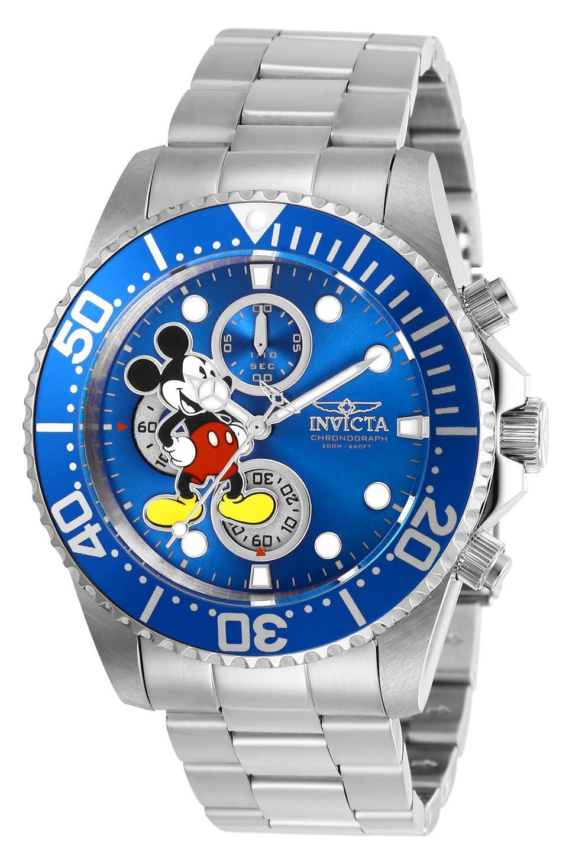 Invicta-27387-Disney-Limited-Edition-Mickey-Mouse-Herren-Uhr-Edelstahl-Quarz-blauen-Zifferblat