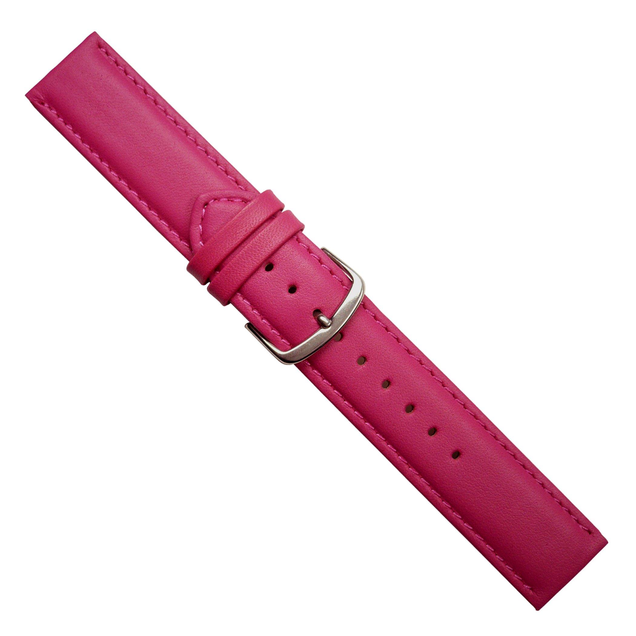 Uhrbanddealer-Damen-und-Herren-Uhrenarmband-Soft-Kalb-Leder-22mm-Pink-matt-392922s