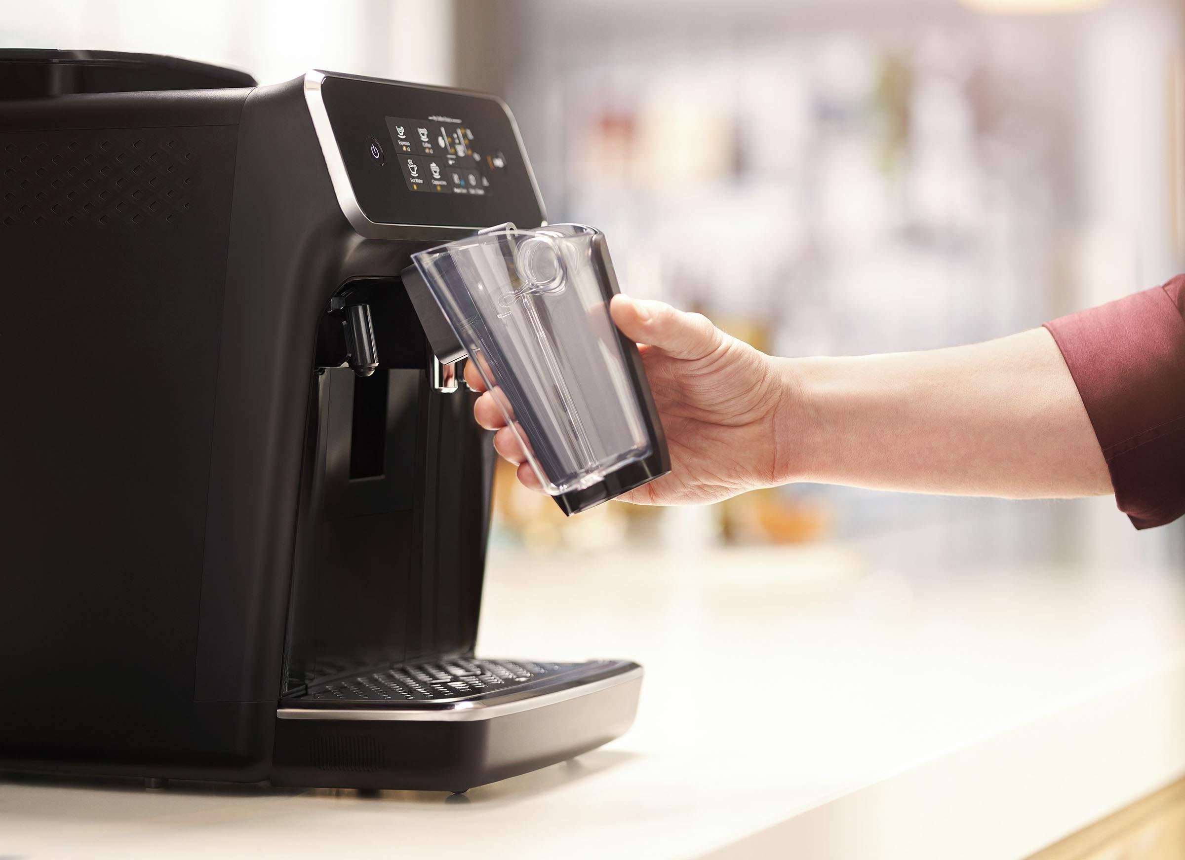 Philips-2200-Serie-EP223140-Kaffeevollautomat-LatteGo-Milchsystem-schwarzklavierlack-schwarz