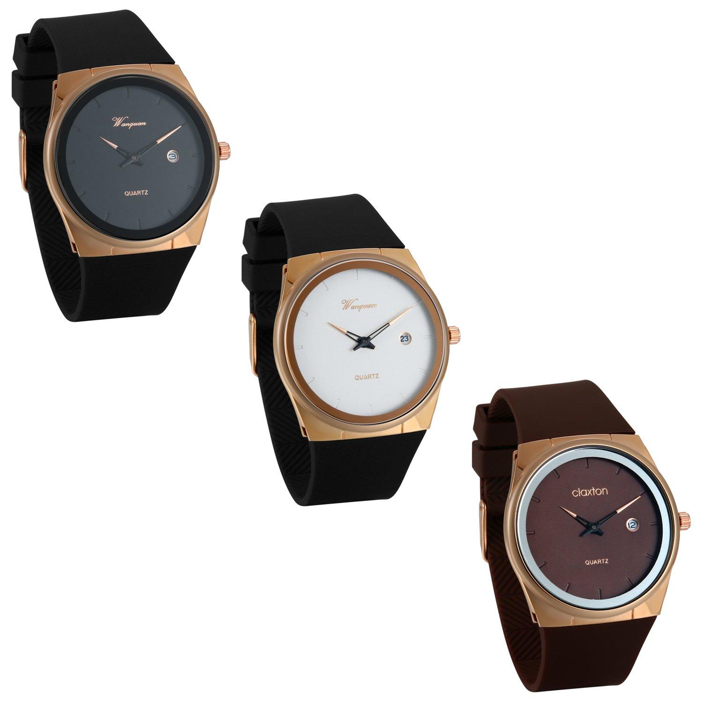 JewelryWe-Herren-Uhren-Ultra-Dnne-Minimalistische-Analog-Quarz-Uhr-Datum-Kalender-Business-Casual-Armbanduhr-mit-Silikon-Armband-3-Verschiedenen-Modellen