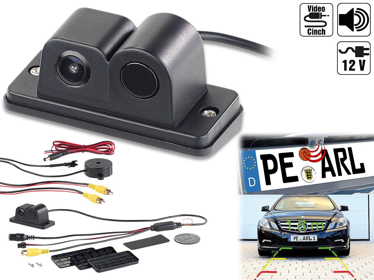 Lescars-Rckfahrkameras-Farb-Rckfahrkamera-und-Einparkhilfe-90-Bildwinkel-Abstandswarner-Parkhilfe
