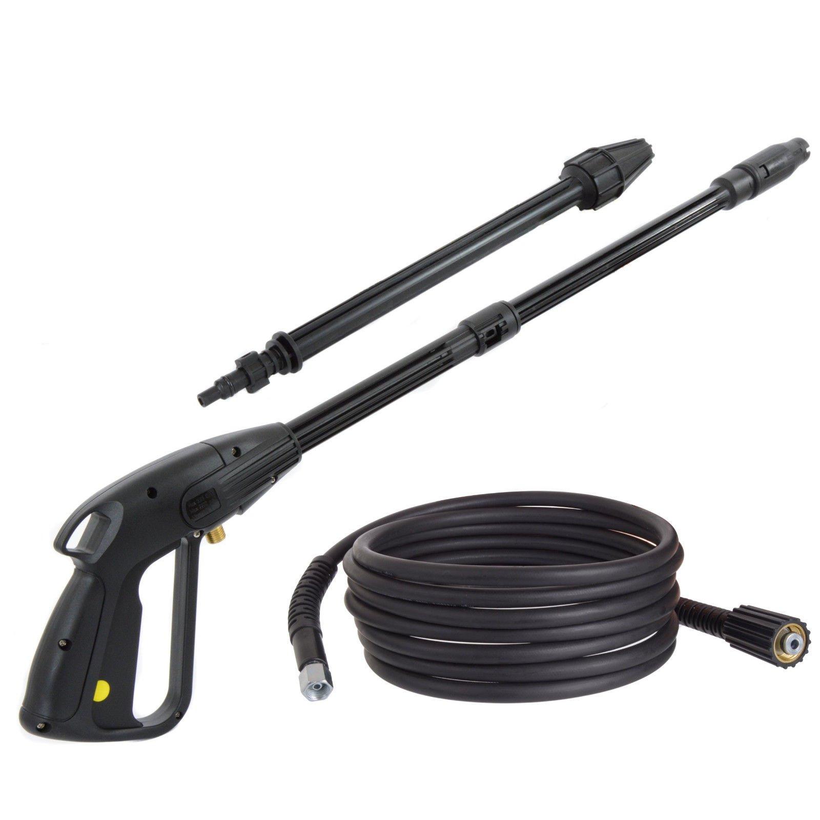 HOBBY-Pistole-mit-Rotordse-Lanze-Einstellbare-Dse-5m-Hochdruckschlauch-fr-Hochdruckreiniger-Krcher-K