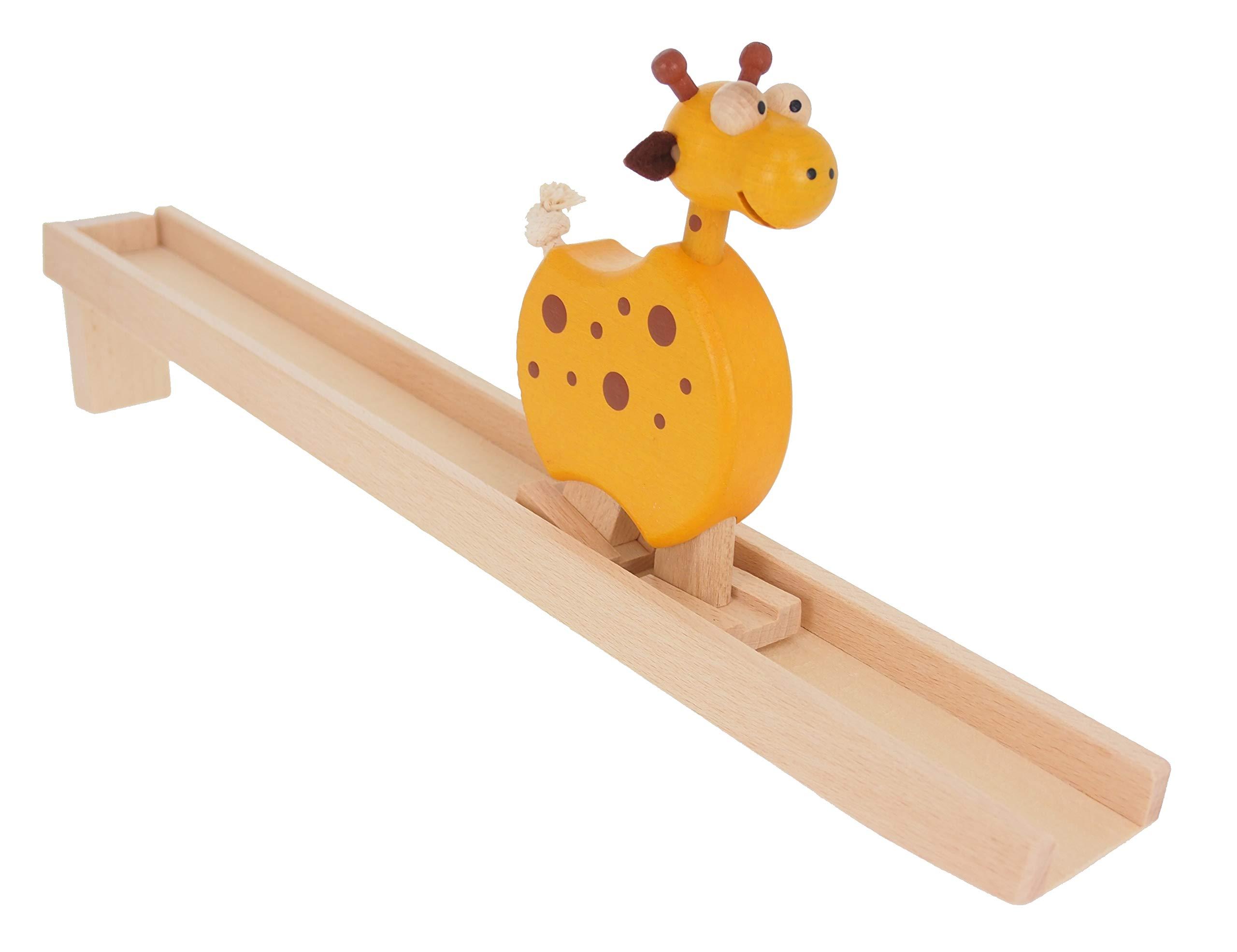ABAfactory-68114-Walking-Animal-Giraffe-Holz-Spielzeug
