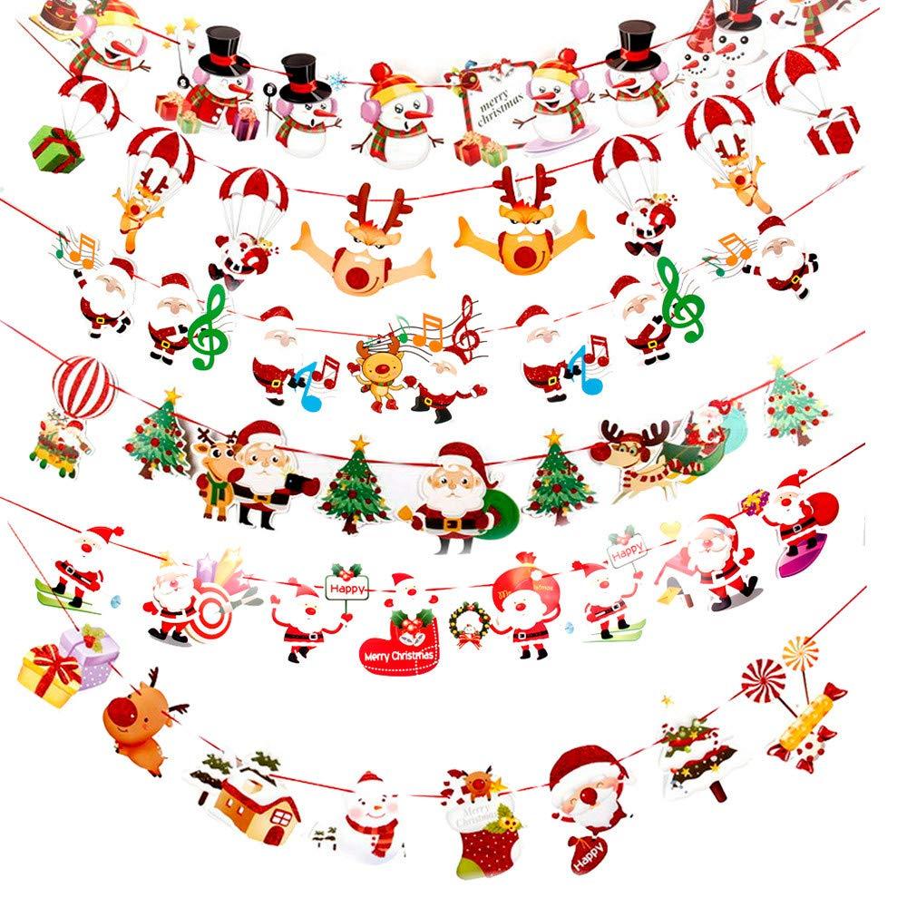 Frohe Weihnachten Glitzer.Amphia Weihnachten Dekoration Diy Frohe Weihnachten Banner Kiefer Stoff Bunting Girlanden Glitzer Stars Hanging Dekoration Fur Home Party