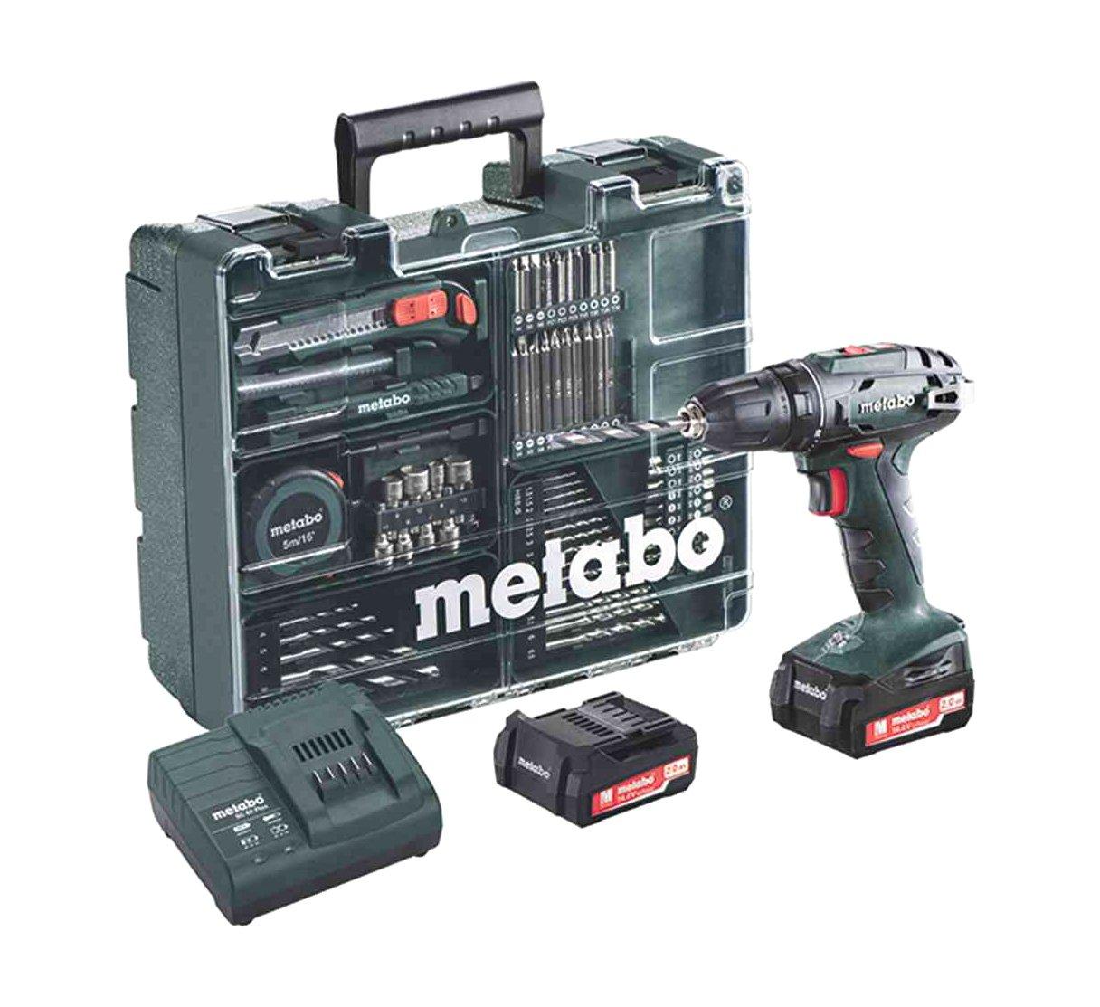 Metabo-60220688-144-Set-Workshop-74-Acc-BS-144-Mobile-Werkstatt-20-Ah-10-mm-SC-60-Plus-144-V