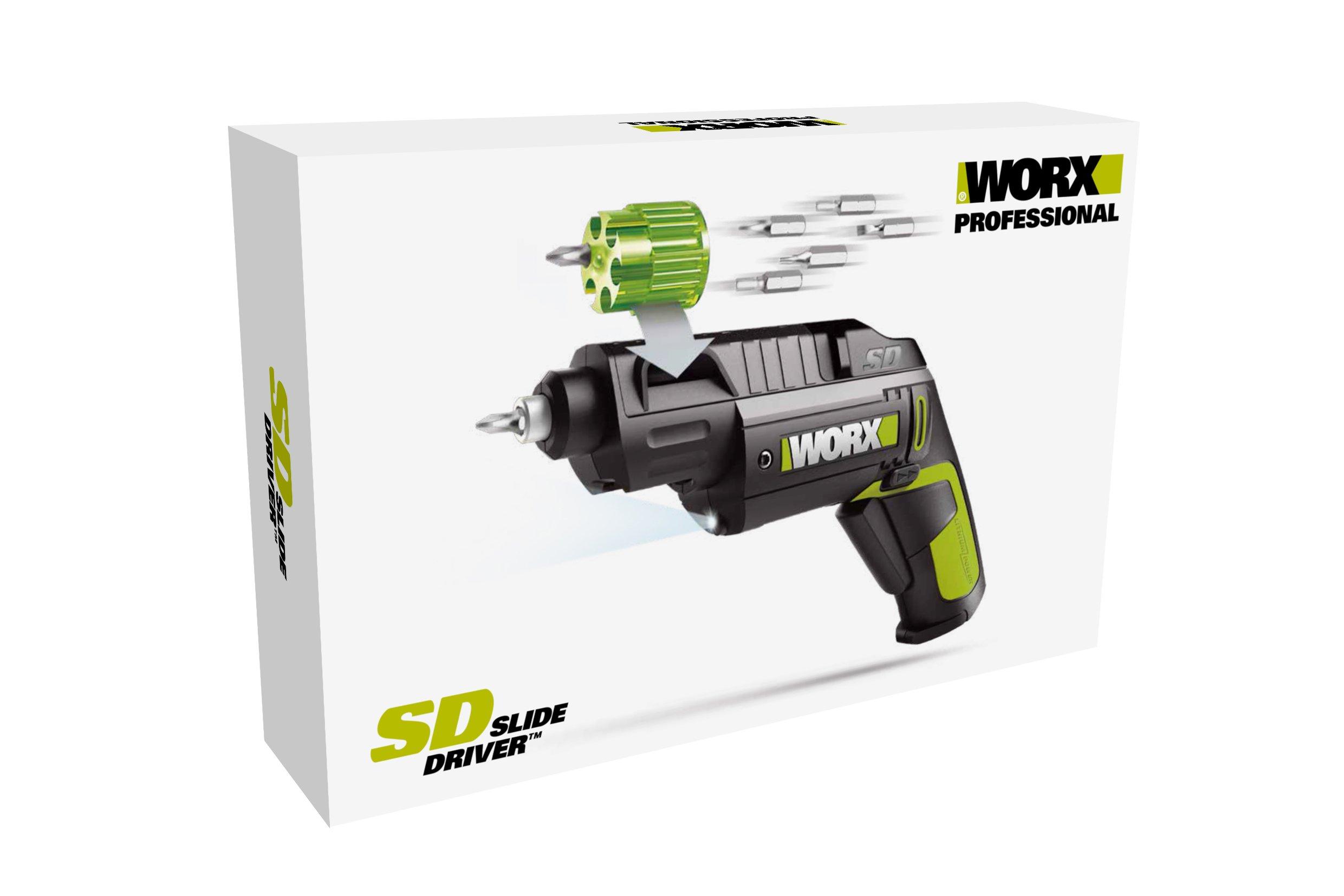 WORX-WU254-Heavy-Duty-Akkuschrauber-mit-einfachem-Wechsel-des-Bit-Magazins-in-kompaktem-Design-fr-schnelles-mheloses-Schrauben–4V-Schrauber-mit-Li-Ion-Akku-12-Bits-2-Bit-Magazine