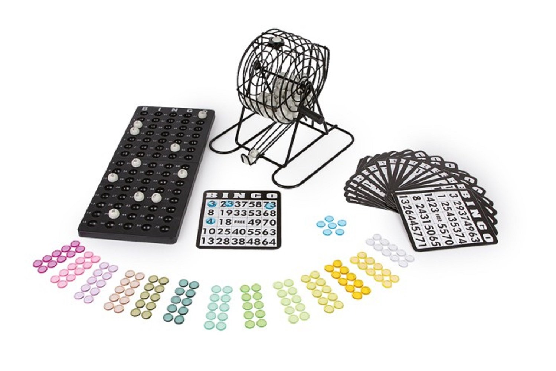 Bingo-X-Gesellschaftsspiel-Eine-neue-Ausfhrung-des-Verkaufshits-Bingo-mit-bunten-Abdeckplttchen-grauen-Spielkugeln-und-einem-Legebrett-aus-Kunststoff-Der-beliebte-Spieleklassiker-in-edler-Metalloptik-