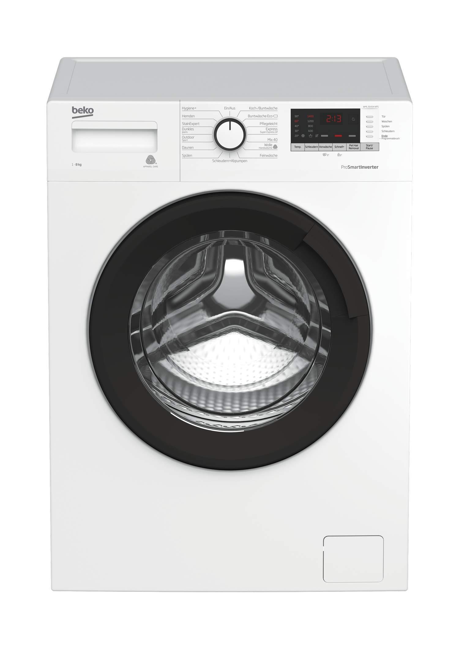 Beko-WML-81434-NPS-Waschmaschine-FrontladerA-1400UpM-Pet-Hair-RemovalAquawave-SchontrommelWei
