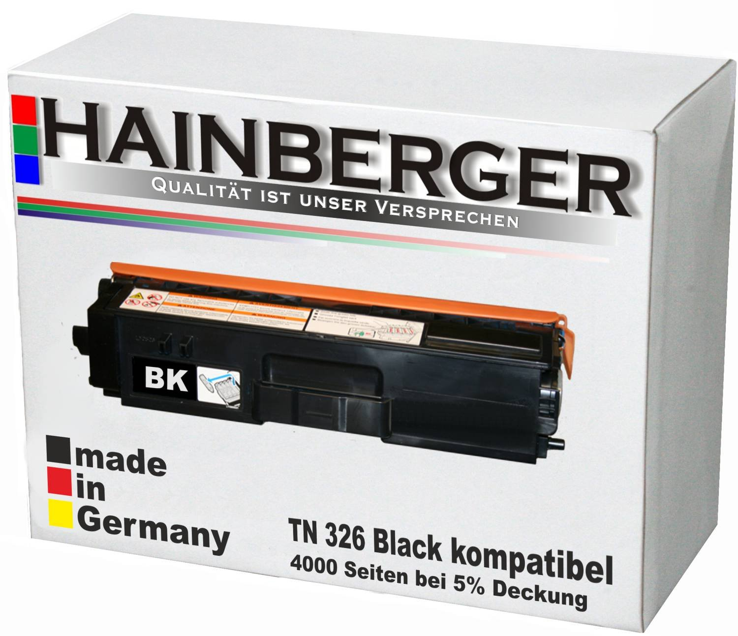 Hainberger-Toner-Black-fr-Brother-TN-326-schwarz-4000-Seiten-kompatibel-zu-TN-321-326-Geeignet-fr-Brother-HL-L8250CDN