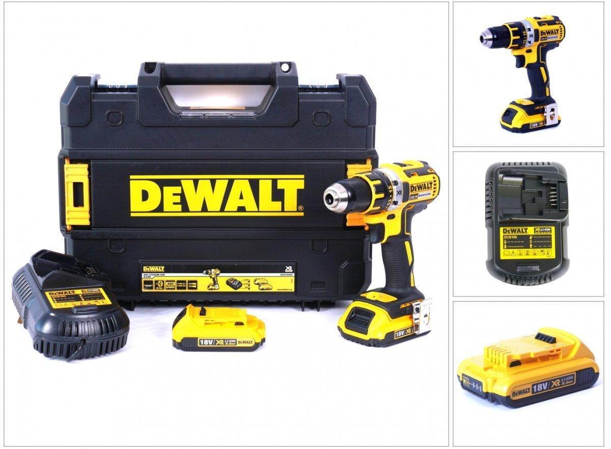 DeWalt-DCD790D2-Akku-Bohrschrauber-Brstenls-180-V2-Ah-54-W-18-V-Schwarz-Gelb