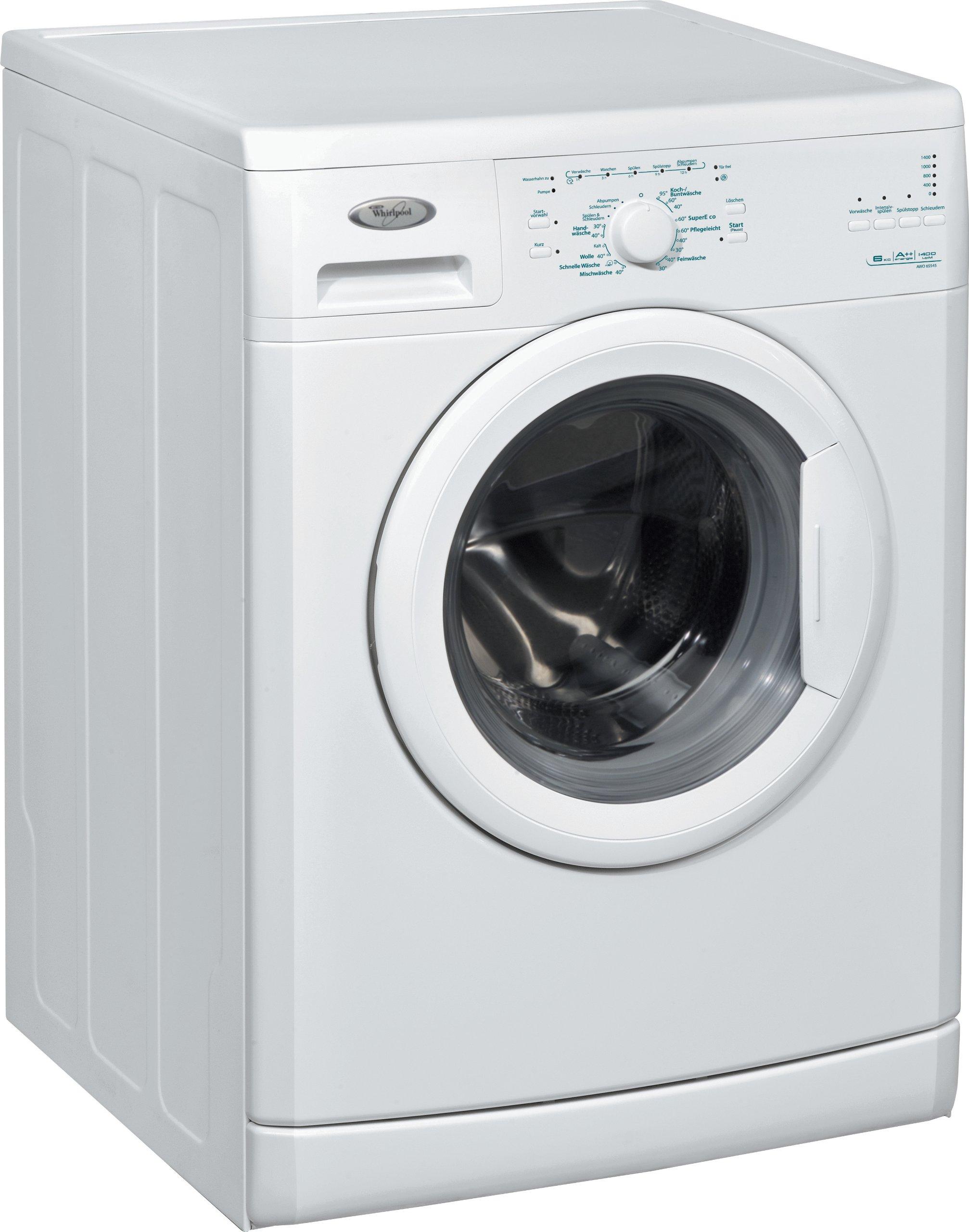 Whirlpool-AWO-6S545-Waschmaschine-Frontlader-A-B-1400-UpM-6-kg-wei-Startzeitvorwahl-Start-delay-with-LED-Vollwasserschutz-unterbaufhig