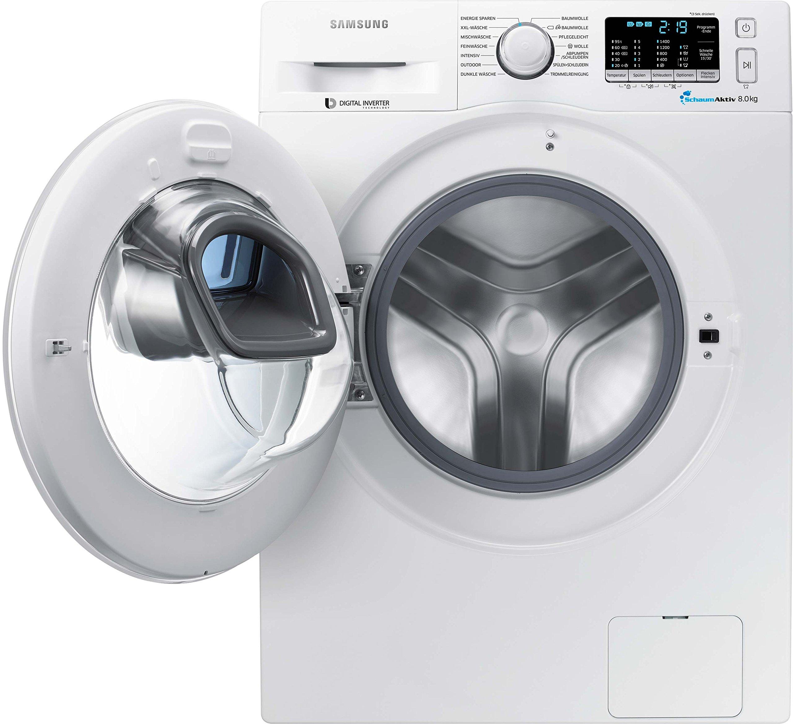 Samsung-Waschmaschine-FLA116-kWhJahr1400-UpM8-kgweiAdd-WashSmart-CheckDigital-Inverter-Motor