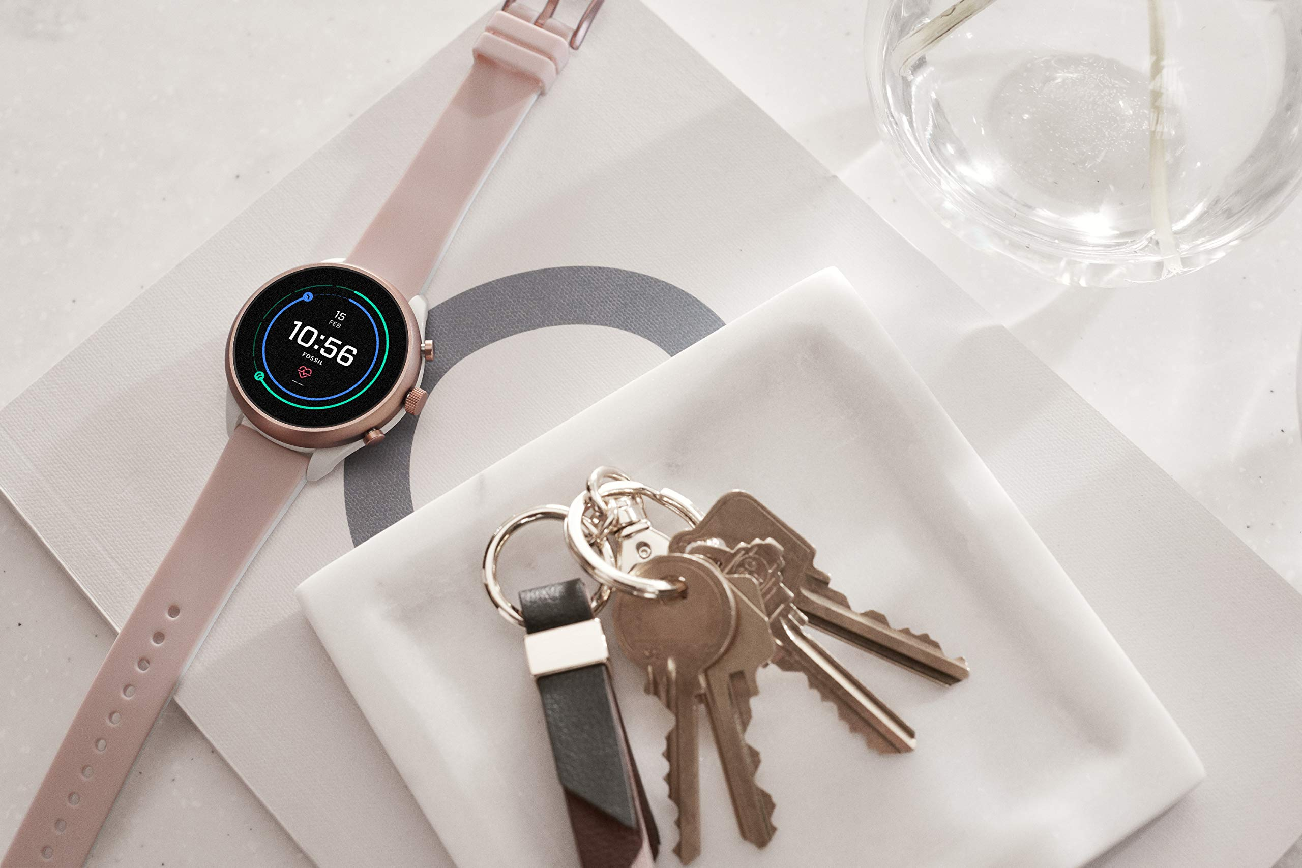 Fossil-Damen-Smartwatch-mit-Silikon-Armband-FTW6022