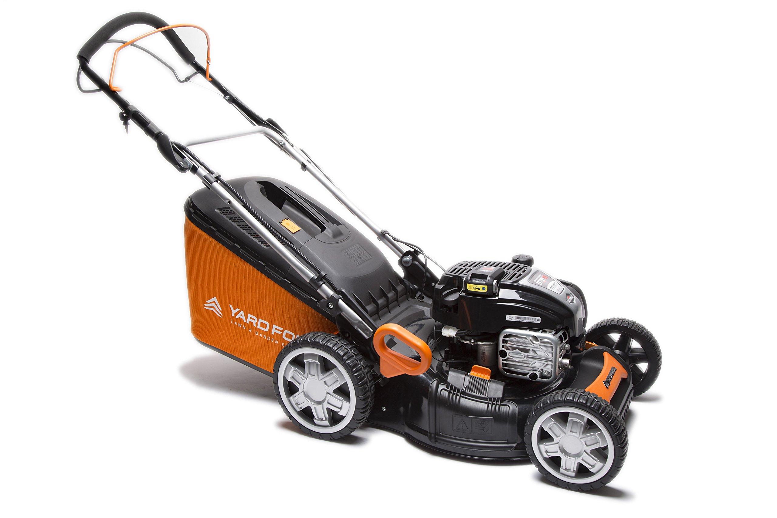 YardForce-GM-B46B-Benzin-Rasenmher–Leistungsstarker-zuverlssiger-4-in-1-Rasenmher-mit-Briggs-Stratton-Motor-Selbstantrieb-46cm-Schnittbreite-fr-bis-zu-1800m-Rasen