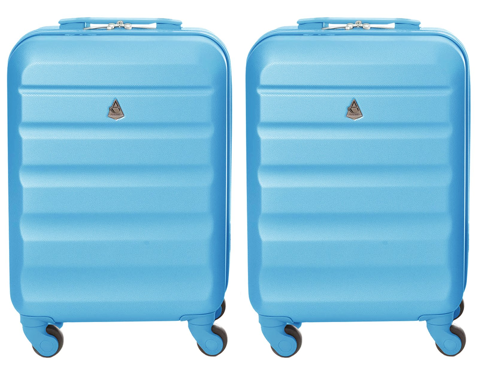 Aerolite-2-Teilig-Leichtgewicht-ABS-Hartschale-4-Rollen-Handgepck-Trolley-Koffer-Bordgepck-Kabinentrolley-Reisekoffer-Gepck-Genehmigt-fr-Ryanair