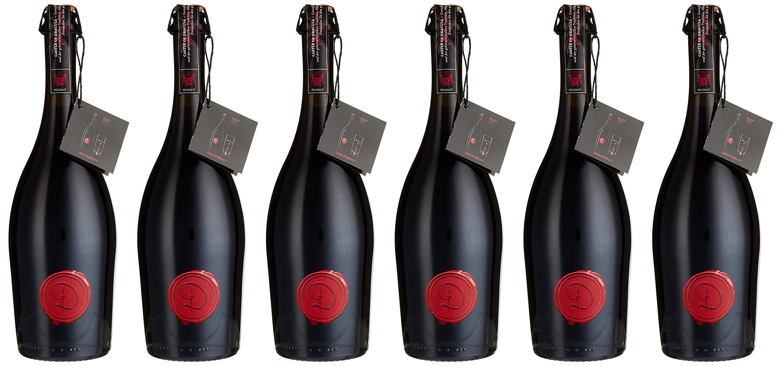Castle-of-Dracula-Marsecco-Red-delle-Venezie-IGT-Vino-Frizzante-Semisecco-20172018-6er-Pack-6-x-750-ml