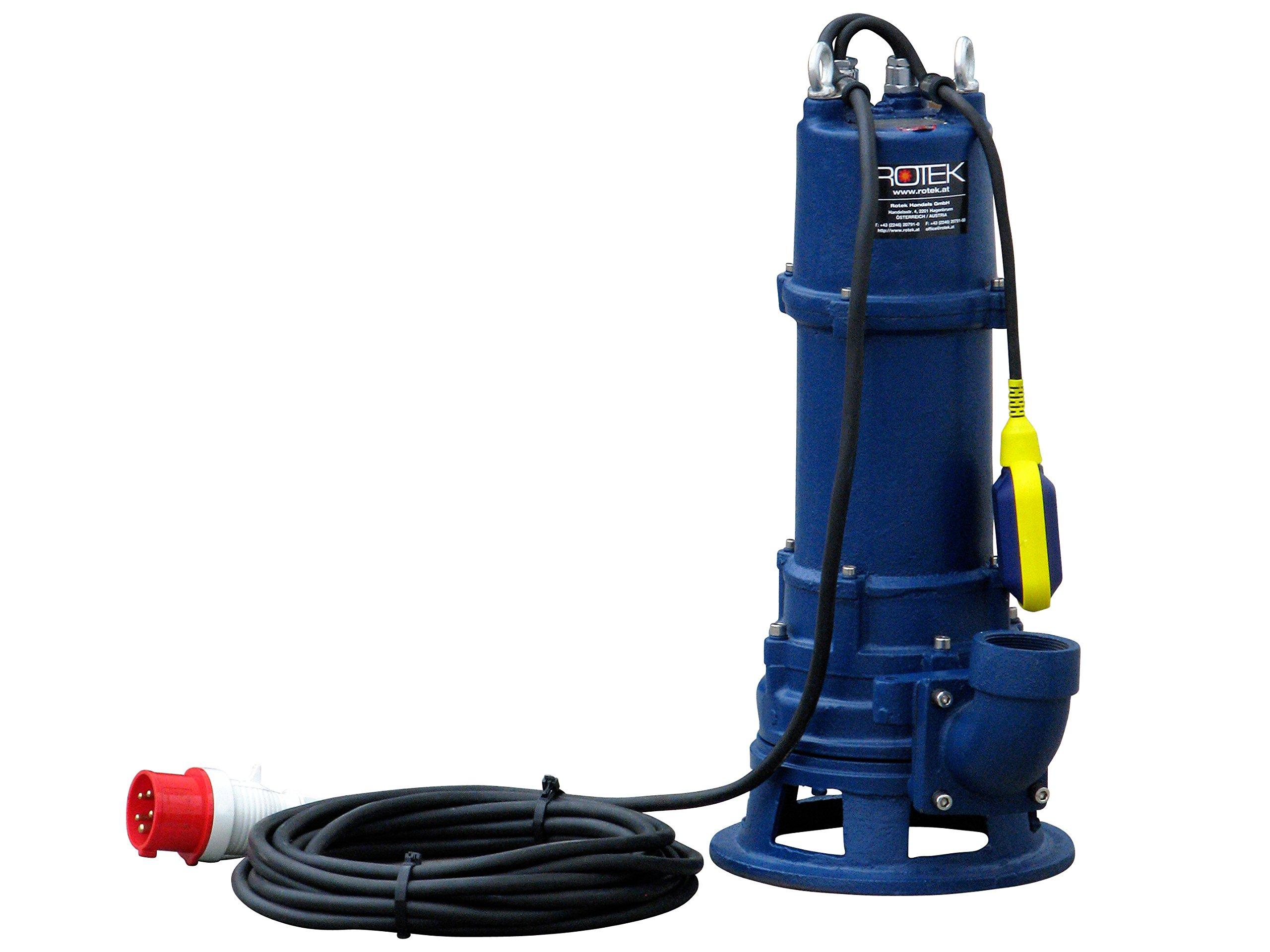 Rotek-elektrische-Schmutzwasser-Tauchpumpe-mit-Schredderwerk-Hcksler-und-Stahlgehuse
