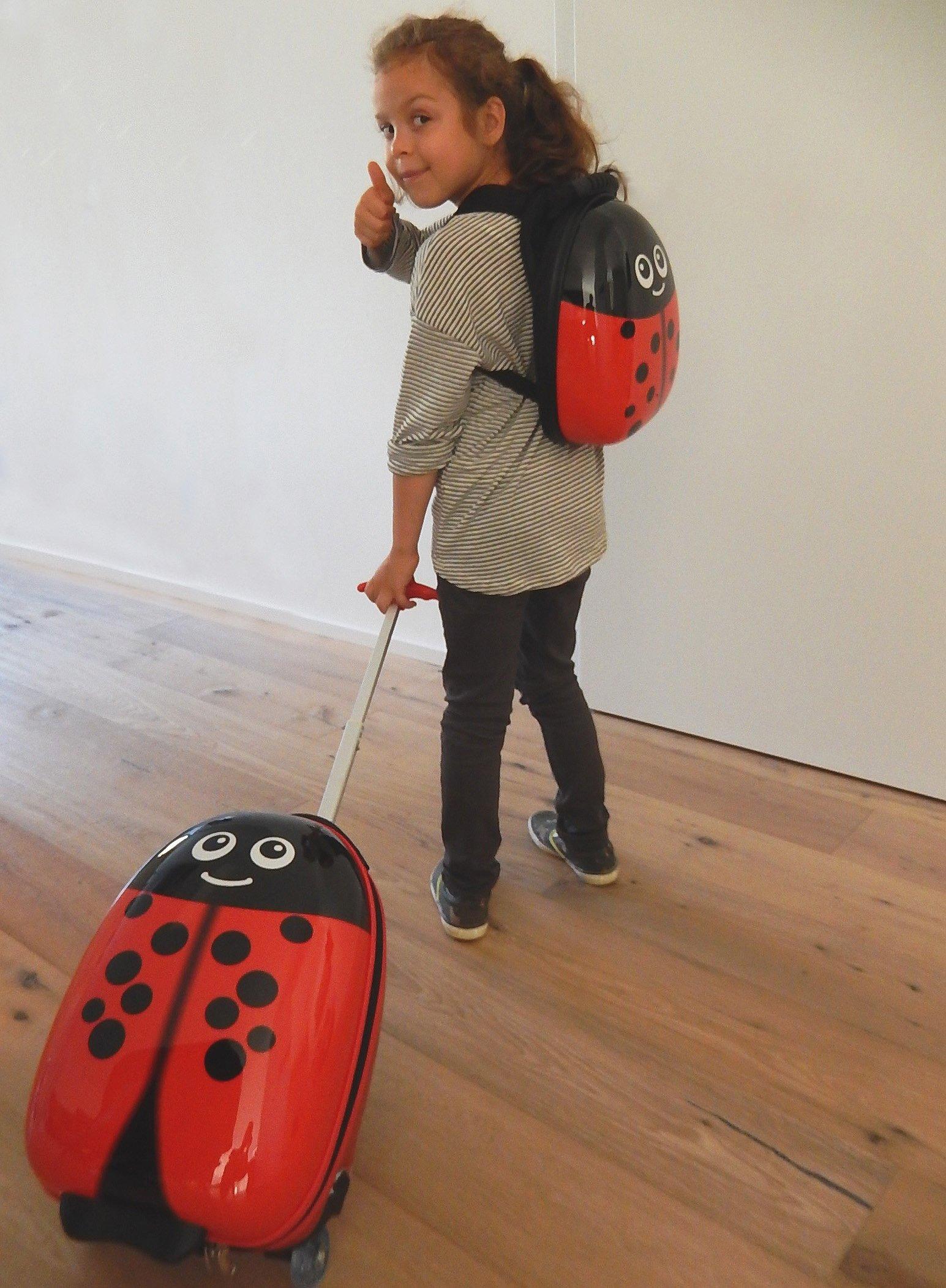 FERG-1x-Kinder-Trolley-1x-Rucksack-Backpack-Kinder-Koffer-Handgepck-2-Rollen