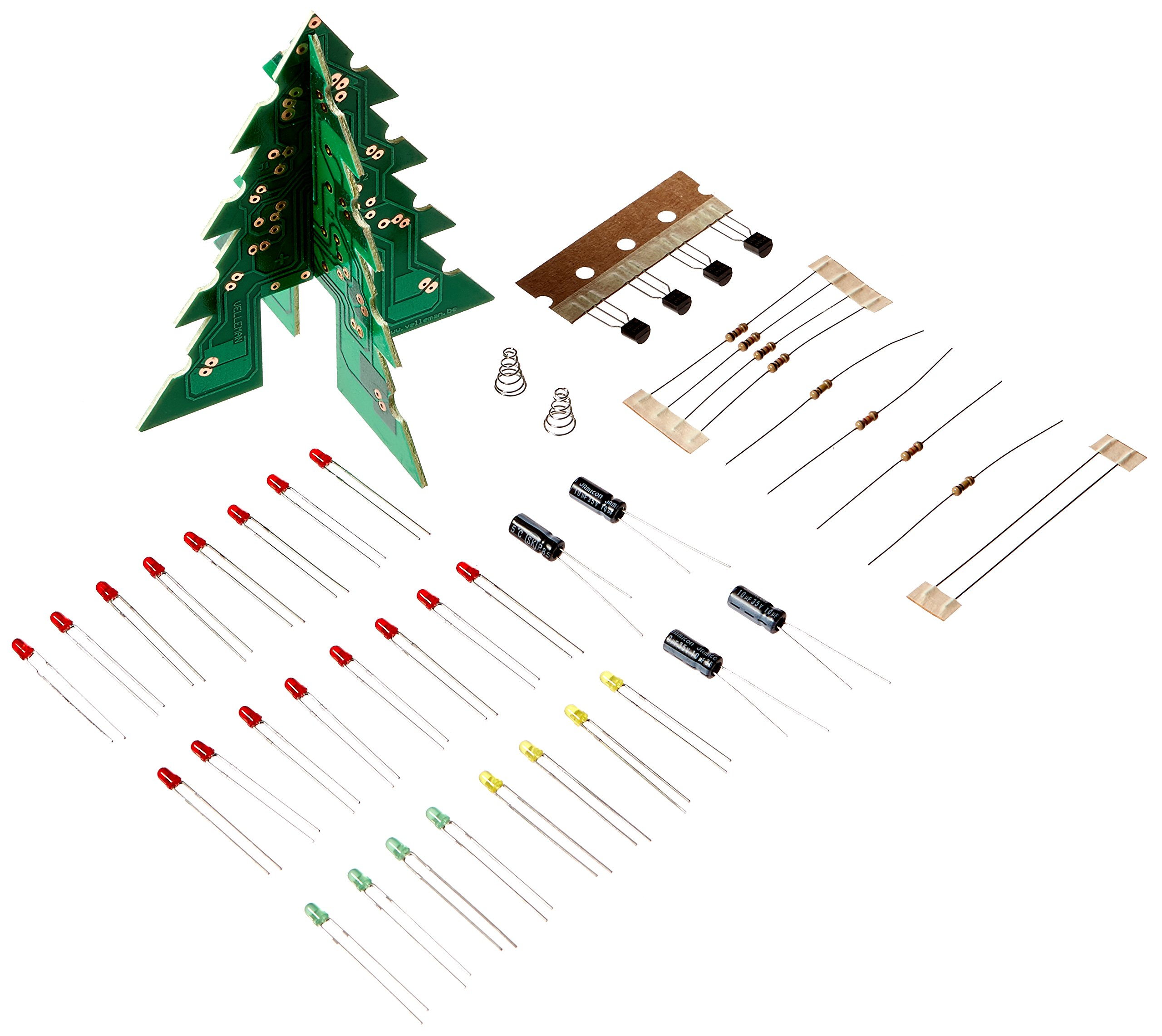 Velleman-MiniKits-840269-3-D-Weihnachtsbaum-MK130