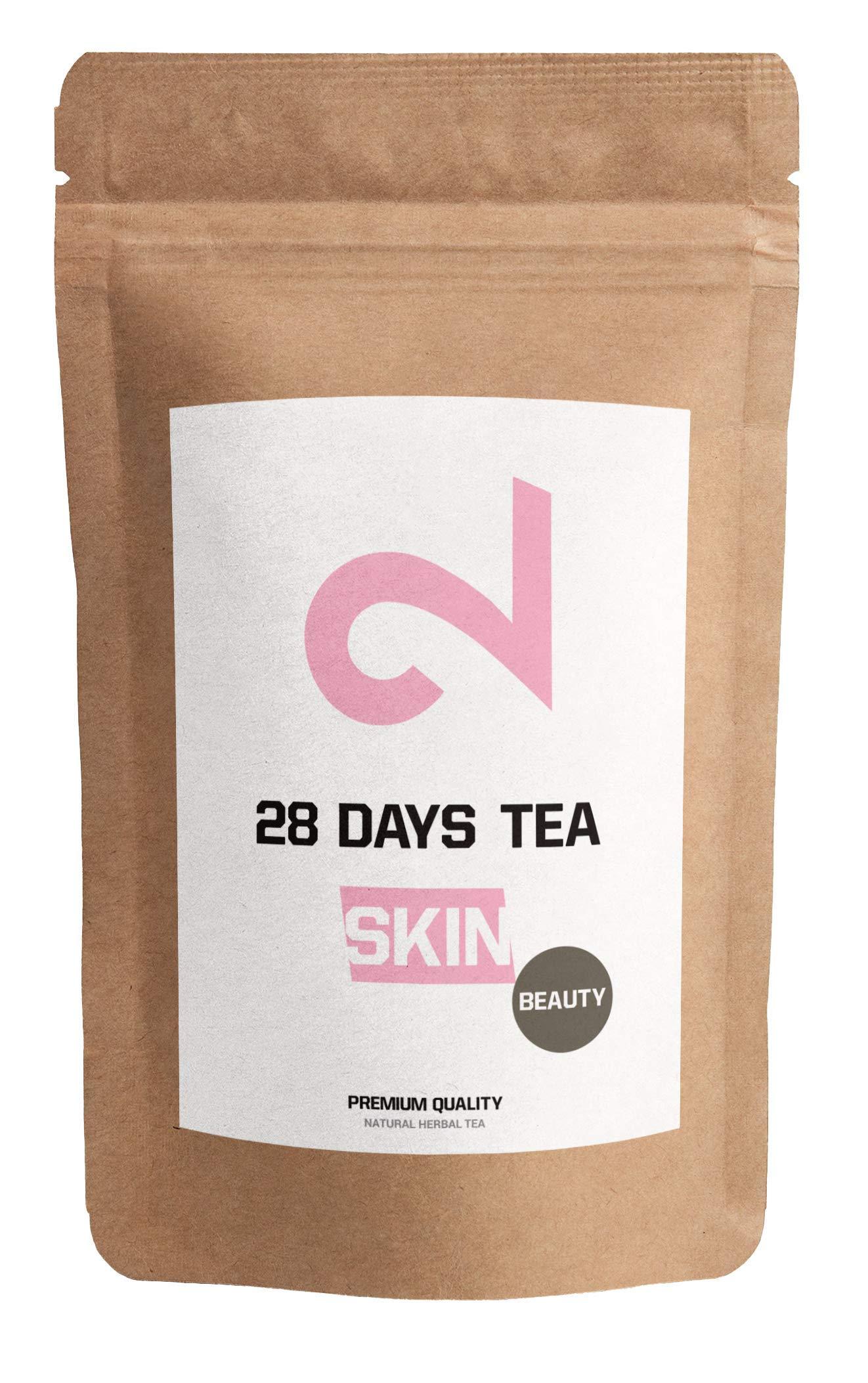 DUAL-Skin-28-Days-Beauty-Tea-100-natrlich-100g-loser-Tee-Pfirsichgeschmack-Ohne-Zustze-Ohne-zucker-Vitamin-angereichert-Vegan-Labor-zertifiziert-In-Europa-hergestellt