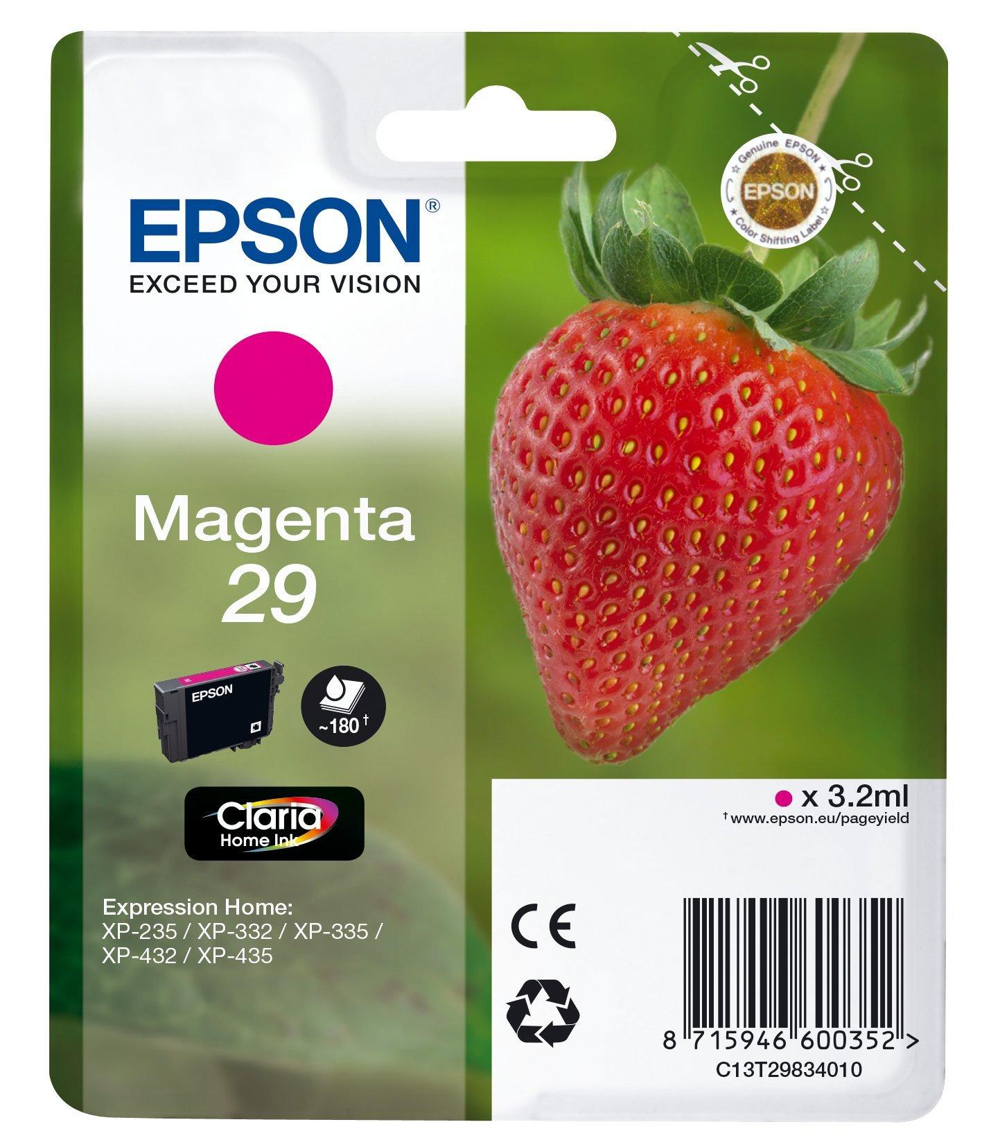 Epson-Tintenpatrone-Erdbeere-Claria-Home-Tinte-Text-und-Fotodruck