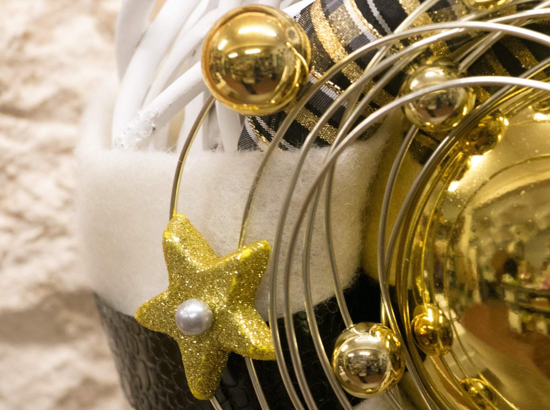 HIKO-EVENTDEKO-Doppelkranz-Wandkranz-Nr22-Trkranz-wei-30-cm-mit-Goldkugel-Sternen-modern-Trdeko-Winter-Weihnachten-Trdeko-Trdekoration-Winterkranz