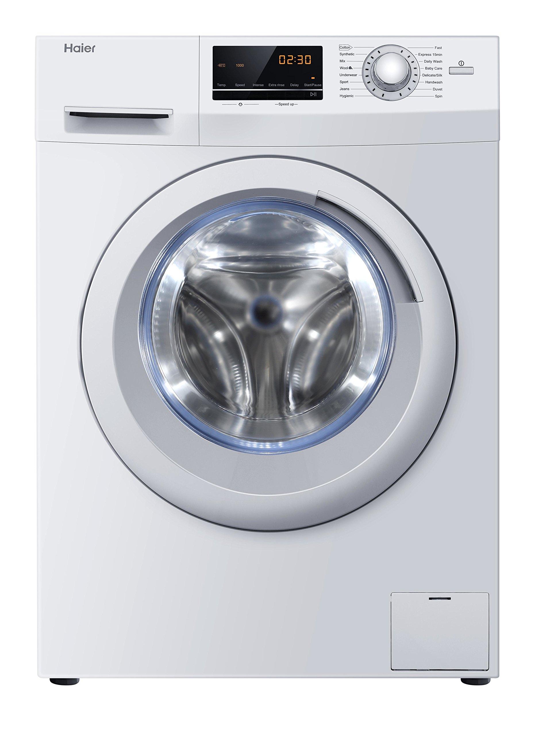 Haier-HW100-14636-df-autonome-Belastung-vor-10-kg-1400trmin-A-Wei-Waschmaschine-Waschmaschinen-autonome-bevor-Belastung-wei-links-LED-Edelstahl