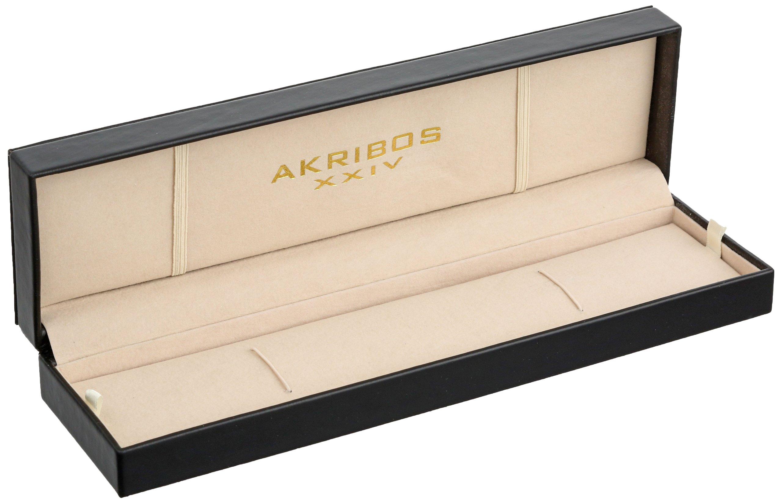 Akribos-XXIV-Herren-Armbanduhr-Conqueror-Analog-Quarz-AK415WT