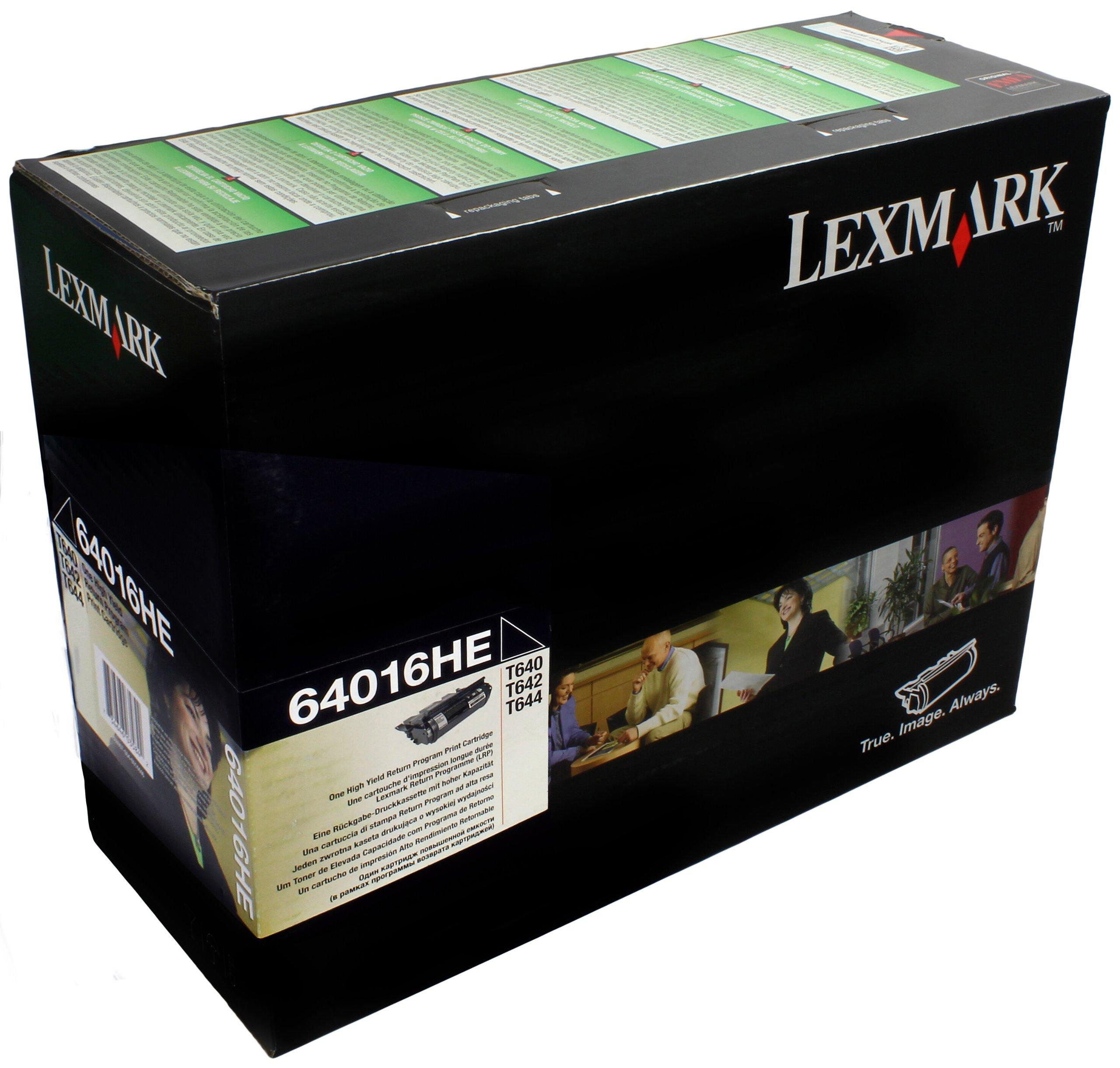 Lexmark-64016HE-T640-T642-T644-Tonerkartusche-hohe-Kapazitt-21000-Seiten-return-program-schwarz