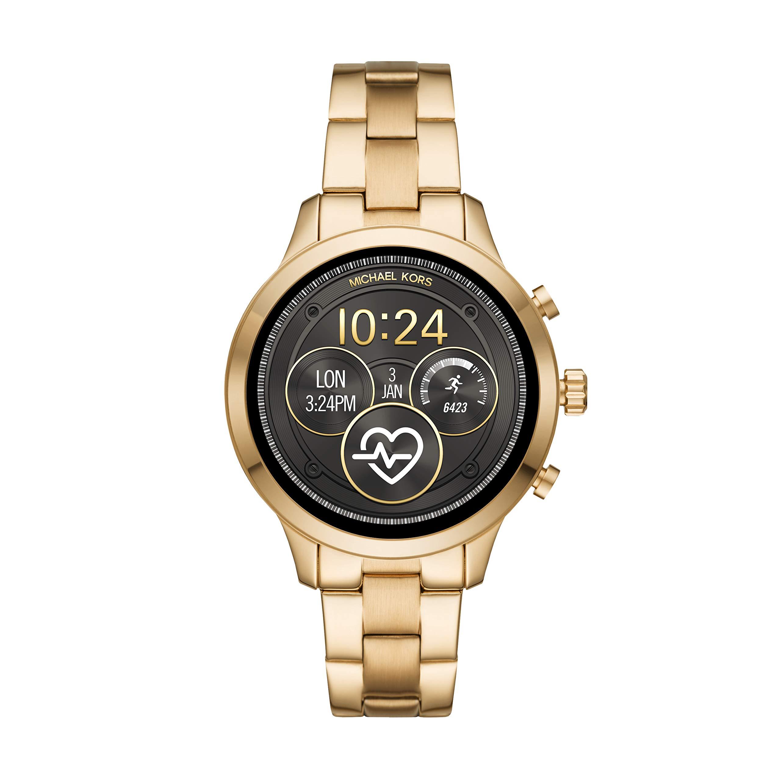 Michael-Kors-Damen-Digital-Smart-Watch-Armbanduhr-mit-Edelstahl-Armband-MKT5045