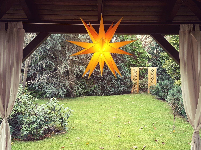 AdventssternWeihnachtsstern-Aussenstern-wetterfester-Stern-m-60cm-Durchmesser-inkl-4m-Kabel-u-Stecker