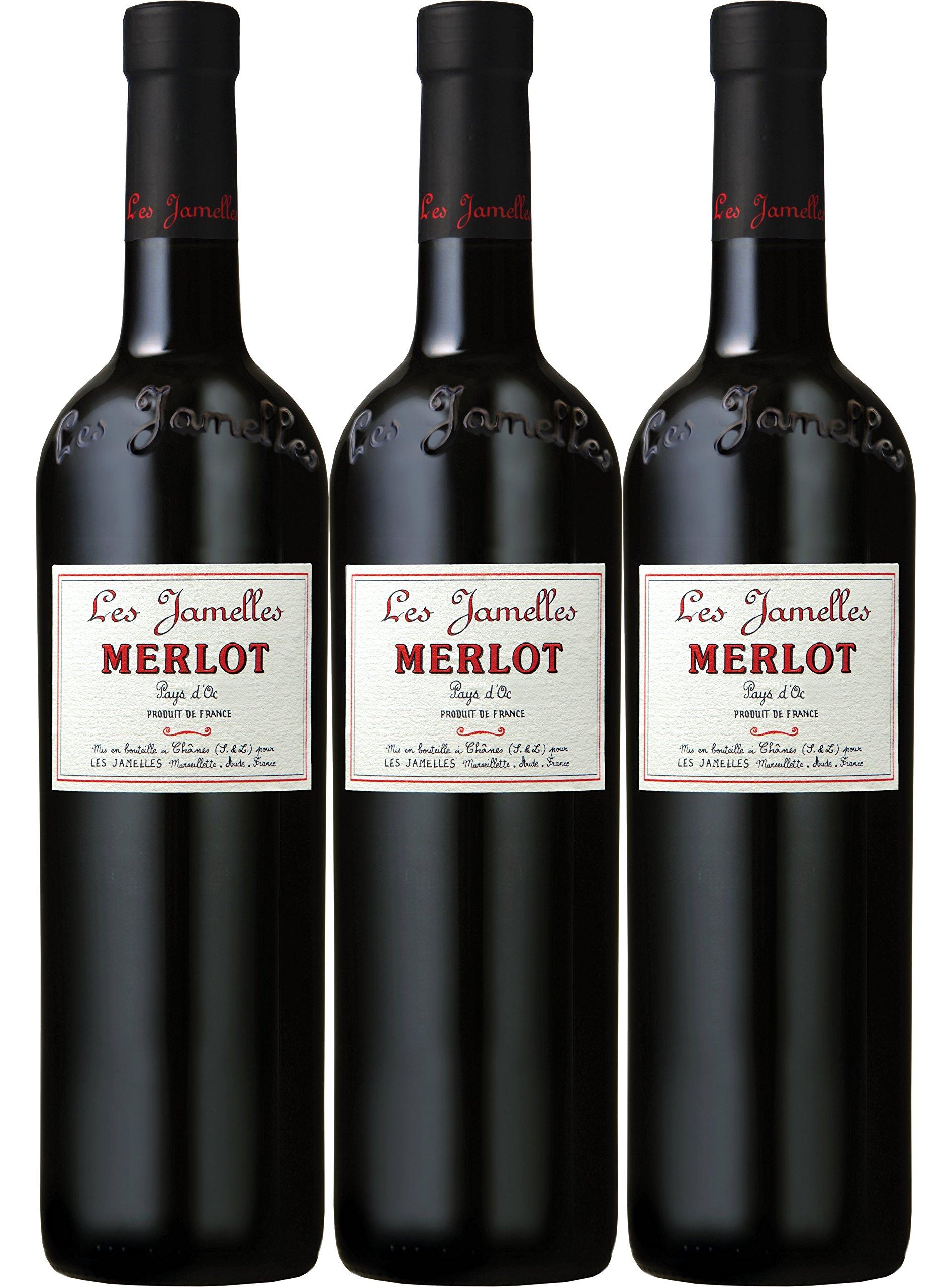 Merlot-Vin-de-Pays-dOc-Les-Jamelles-VdP-Rot-trocken-3er-Pack-x-075-Ltr