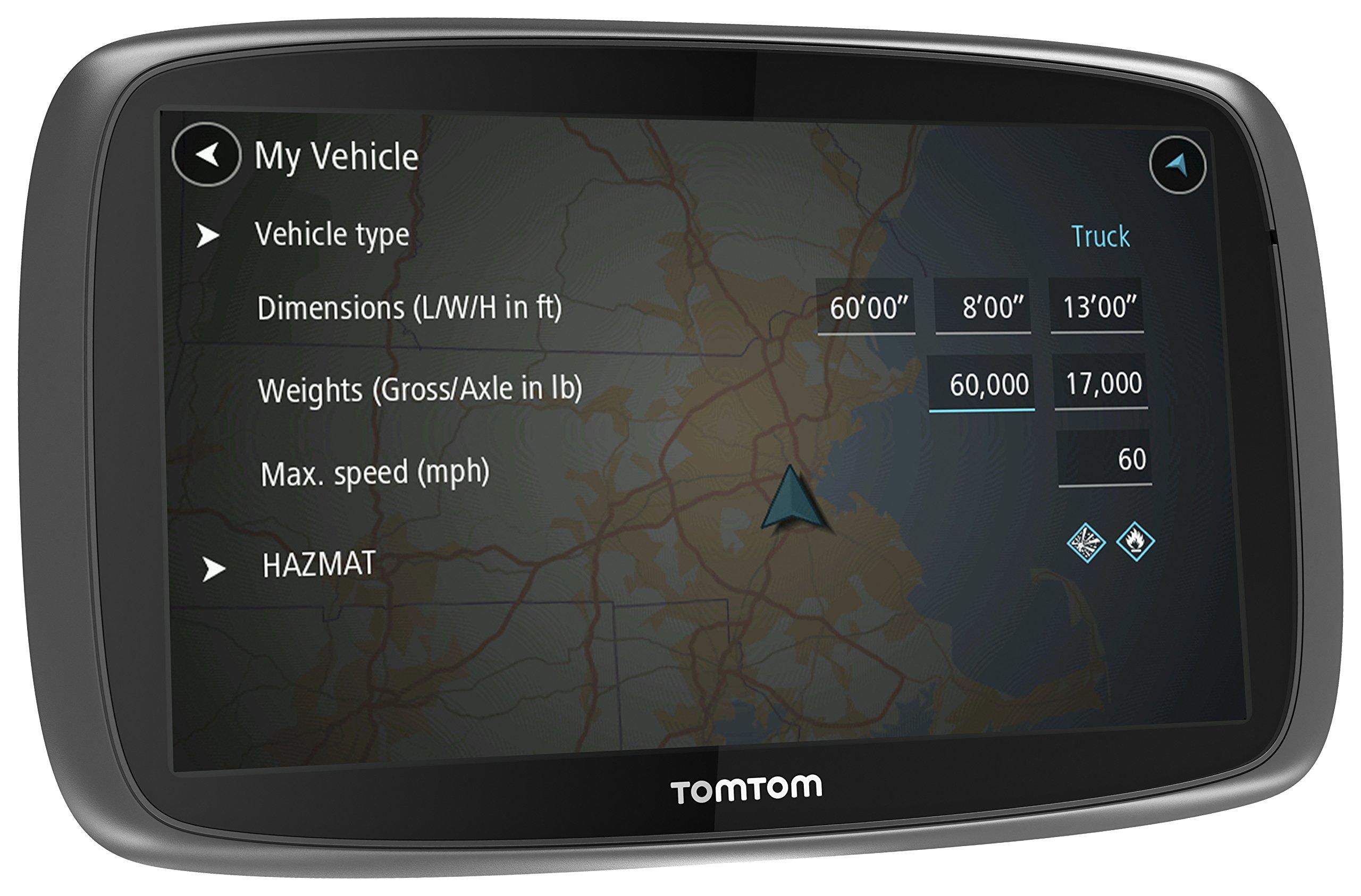 Tomtom-Trucker-5000-LKW-Navigationsgert-kapazitives-Touch-Display-Sprachsteuerung-Click-und-Go-Halterung-schwarz