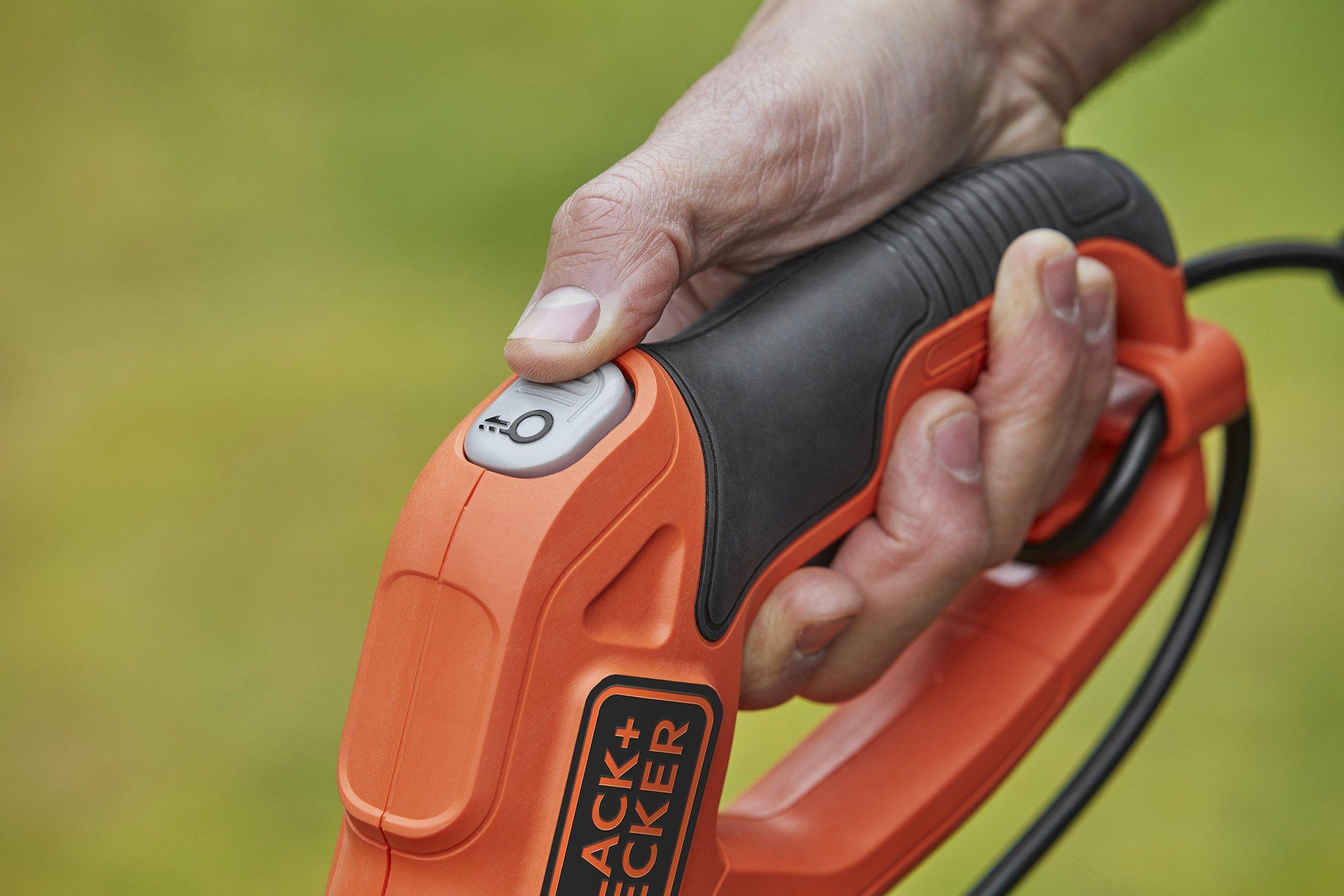 BlackDecker-BESTE630-Elektro-Rasentrimmer-E-Drive-manuelle-Fadenverlngerung-auf-Knopfdruck-EasyFeed-werkzeuglos-umstellen-von-Trimmen-auf-Kantenschneiden-550-W-230-V-Schwarz-30-cm